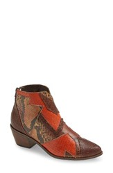 Amuse Society X Matisse Women's Last Call Patchwork Bootie Rust Multi Leather