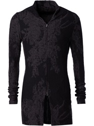 The Viridi Anne The Viridi Anne Zipped Jacquard Jacket Black