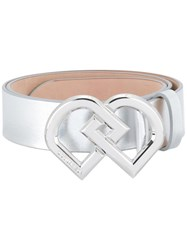 Dsquared2 Dd Buckle Belt Metallic