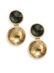 Marco Bicego Jaipur Lemon Citrine Green Tourmaline And 18K Yellow Gold Drop Earrings