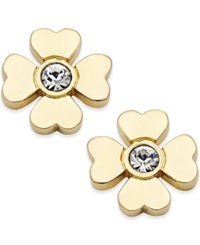 Kate Spade New York Gold Tone Four Leaf Clover Stud Earrings