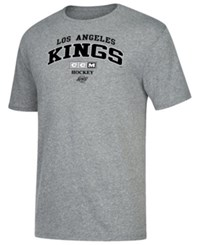 Ccm Los Angeles Kings Practice Triblend T Shirt Heather Gray