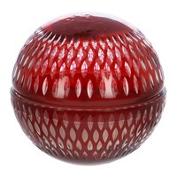 Amara Cut Glass Ball Scented Candle Red