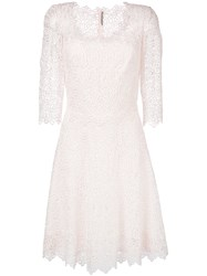 Ermanno Scervino Embroidered Dress Women Silk Polyester Viscose 42 Pink Purple