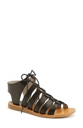 Women's Hinge 'Roman' Strappy Lace Up Sandal Black