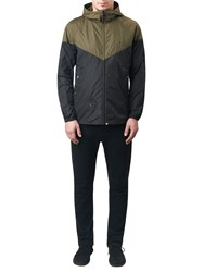 Pretty Green Reedbank Slim Fit Hooded Jacket Khaki Black