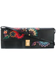 Paul Smith Floral Print Clutch Black