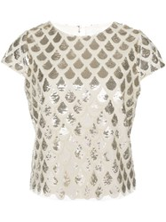 Milly Scale Sequin Embellished Top 60