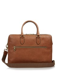Mulberry Heathcliffe Grained Leather Briefcase Tan