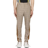 Stella Mccartney Brown Checked Side Stripe Trousers