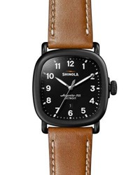 Shinola 43Mm Guardian Chronograph Watch Black