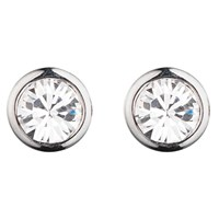 Dyrberg Kern Thelma Small Swarovski Crystal Stud Earrings Silver