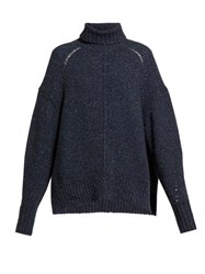 Isabel Marant Harriett Roll Neck Sweater Navy