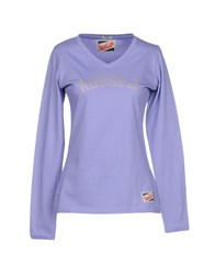 Russell Athletic T Shirts Lilac