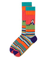 Bloomingdale's The Store At Striped Telephone Socks 100 Exclusive Green