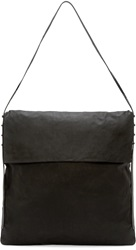 Rick Owens Black Leather Hobo Bag