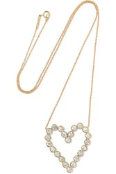 Jennifer Meyer Open Heart 18 Karat Gold Diamond Necklace One Size