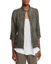 Xcvi Bailey Washed Linen Jacket Women's Oil Washed Rural