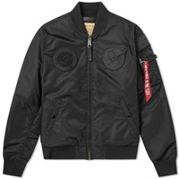 Alpha Industries Ma 1 Vf Nasa Jacket Black