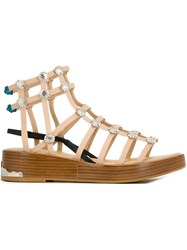 Toga Gladiator Sandals Nude And Neutrals