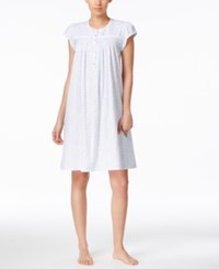 Eileen West Cap Sleeve Printed Short Nightgown