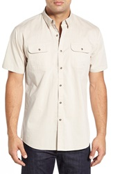 Zagiri 'The Safety Dance' Modern Fit Short Sleeve Sport Shirt Natural