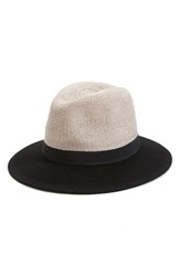 Hinge Mixed Media Panama Hat Black Combo