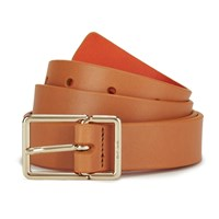 Paul Smith Accessories Women's Leather Contrast Belt Orange Multi