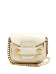 Stella Mccartney Popper Small Faux Leather Cross Body Bag White