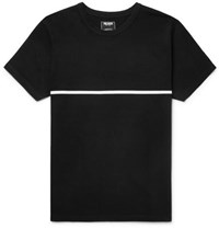 Todd Snyder Striped Cotton Jersey T Shirt Black