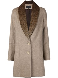 Thakoon Shawl Collar Coat Brown