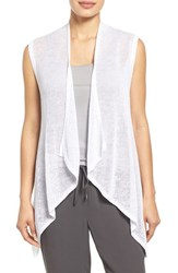 Women's Eileen Fisher Cascading Linen Knit Vest White