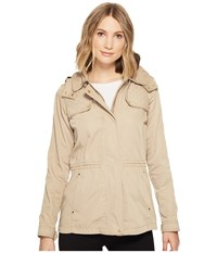 Vince Camuto Hooded Lightweight Parka With Drawstring Waist Wheat Women's Coat Tan
