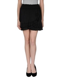 Patrizia Pepe Mini Skirts Black