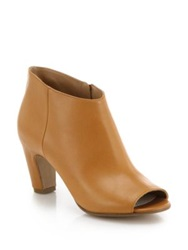 Maison Martin Margiela Open Toe Leather Booties Natural Black