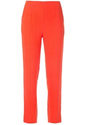 Paule Ka Slim Fit Trousers Orange