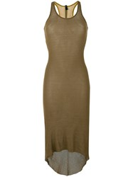 Alyx High Low Jersey Dress Green