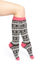 Junior Women's Capelli Of New York Fair Isle Knee High Socks