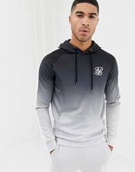 Sik Silk Siksilk Hoodie In Black And Grey Fade