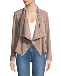 Cupcakes And Cashmere Holt Lace Up Cowl Neck Moto Jacket Brown