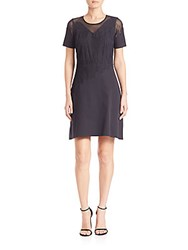 Elie Tahari Tanner A Line Dress Black