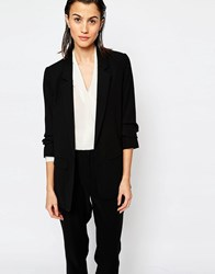 Warehouse Crepe Blazer Black