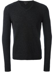 James Perse V Neck Sweater Grey