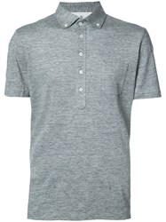 Brunello Cucinelli Five Buttons Polo Shirt Grey