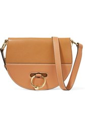 J.W.Anderson Jw Anderson Latch Smooth And Textured Leather Shoulder Bag Tan
