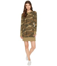 Alternative Apparel Burnout French Terry Sweatshirt Dress Camo Women's Dress Multi