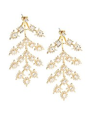 Noir Bristol Cubic Zirconia And 18K Gold Plated Chandelier Earrings