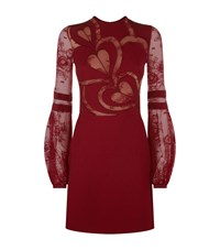 Elie Saab Heart Lace Dress Red