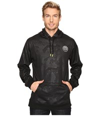 Cinch Tech Fleece Hoodie W Zipper Pocket Black Men's Sweatshirt