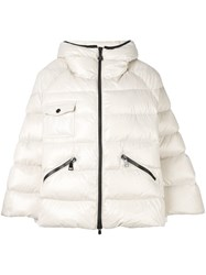 Moncler Bell Sleeve Puffer Jacket Nude And Neutrals